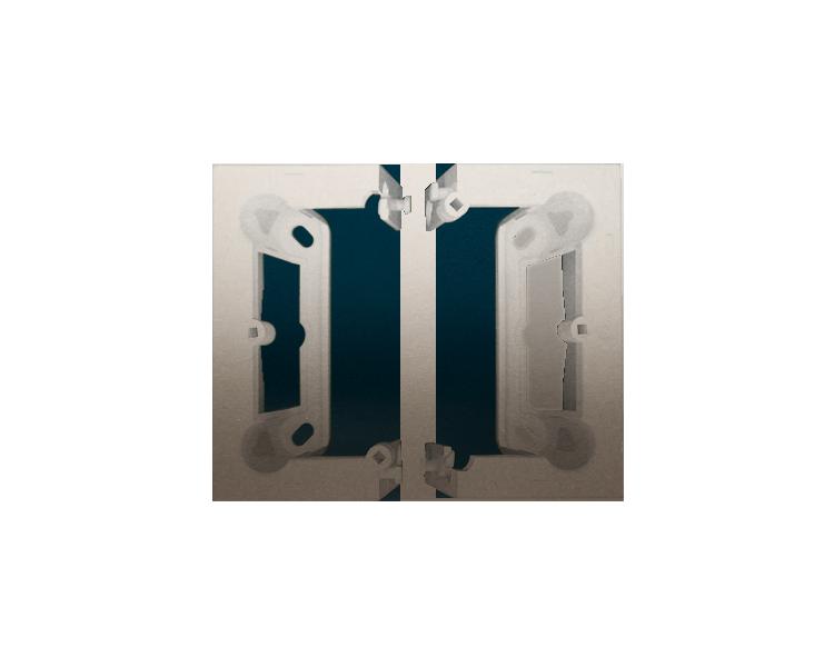 Puszka natynkowa składana, pojedyncza złoty mat, metalizowany DSC/44