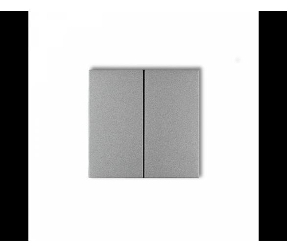 Klawisze podwójne do łączników DECO, FLEXI, MINI (komplet dwóch sztuk) srebrny metalik 7DKL-2