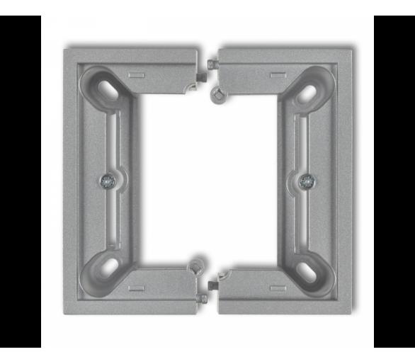 Puszka natynkowa pojedyncza, składana DECO i MINI srebrny metalik 7DPU-1