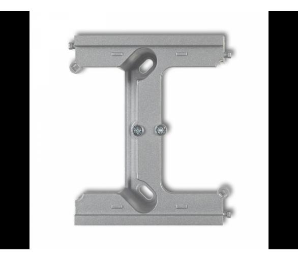 Moduł rozszerzający puszkę natynkową pojedynczą, składaną do ramek wielokrotnych DECO i MINI srebrny metalik 7DPU-2