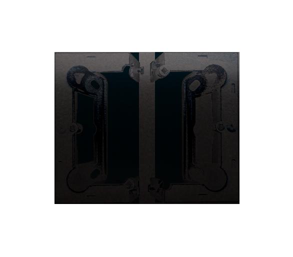 Puszka natynkowa składana, pojedyncza antracyt, metalizowany DSC/48