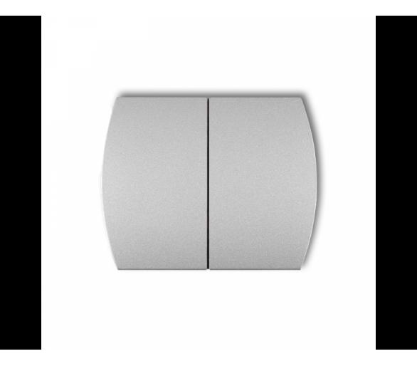 Klawisze podwójne do łączników TREND, LOGO (komplet dwóch sztuk) srebrny metalik 7KL-2