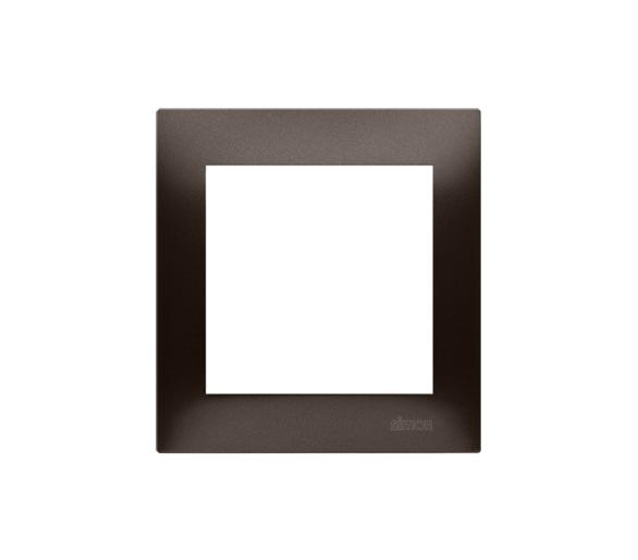 Ramka 1- krotna brąz mat, metalizowany DR1/46