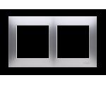 Ramka 2- krotna srebrny mat, metalizowany DR2/43
