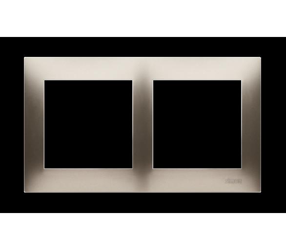 Ramka 2- krotna złoty mat, metalizowany