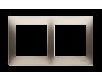 Ramka 2- krotna złoty mat, metalizowany DR2/44