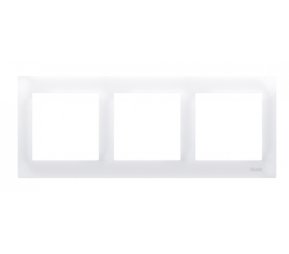 Ramka 3- krotna biały