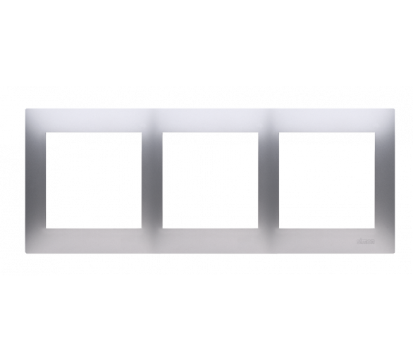 Ramka 3- krotna srebrny mat, metalizowany
