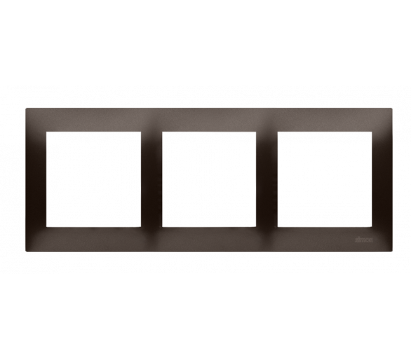 Ramka 3- krotna brąz mat, metalizowany DR3/46