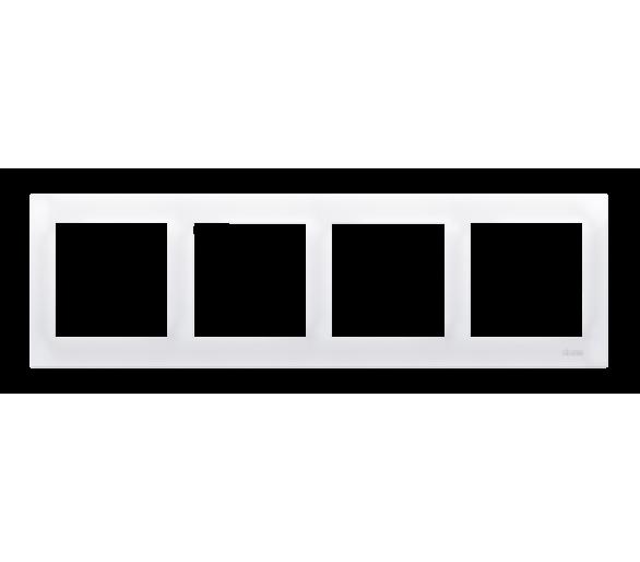 Ramka 4- krotna biały