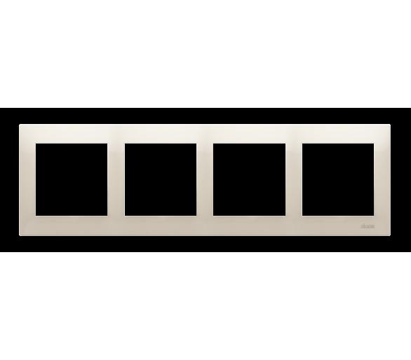 Ramka 4- krotna kremowy DR4/41