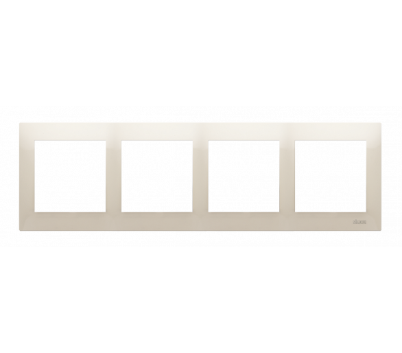 Ramka 4- krotna kremowy