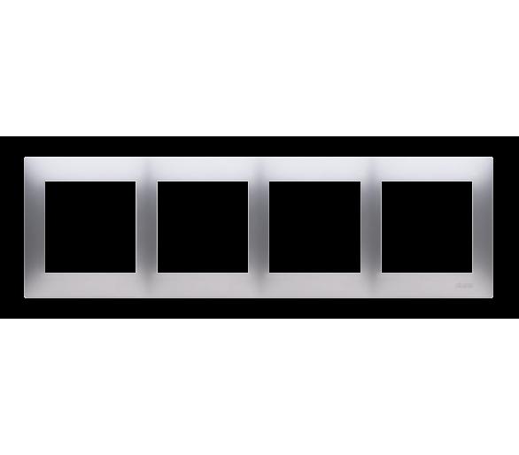 Ramka 4- krotna srebrny mat, metalizowany DR4/43