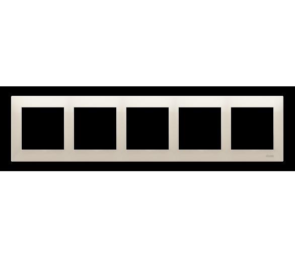 Ramka 5- krotna kremowy