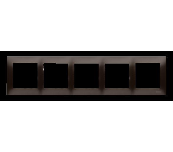 Ramka 5- krotna brąz mat, metalizowany DR5/46