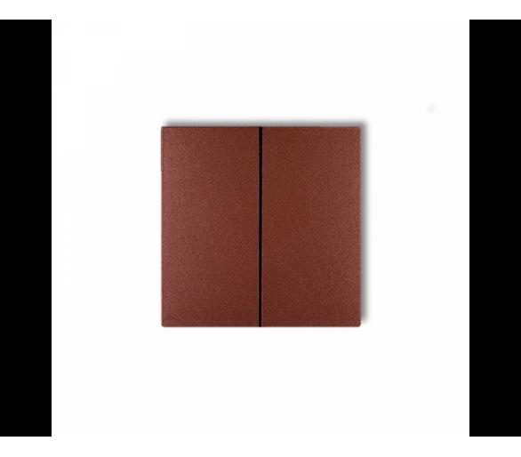 Klawisze podwójne do łączników DECO, FLEXI (komplet dwóch sztuk) brązowy metalik 9DKL-2