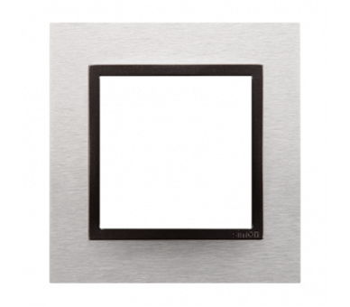 Ramka 1- krotna metalowa inox yang DRN1/76