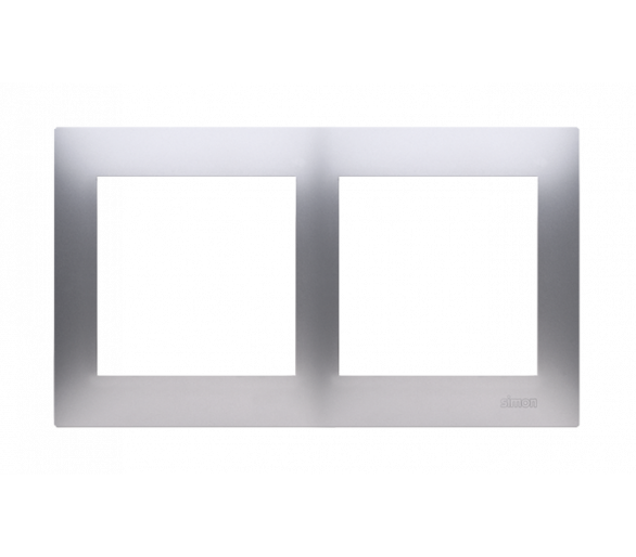 Ramka 2- krotna do puszek karton-gips srebrny mat, metalizowany DRK2/43