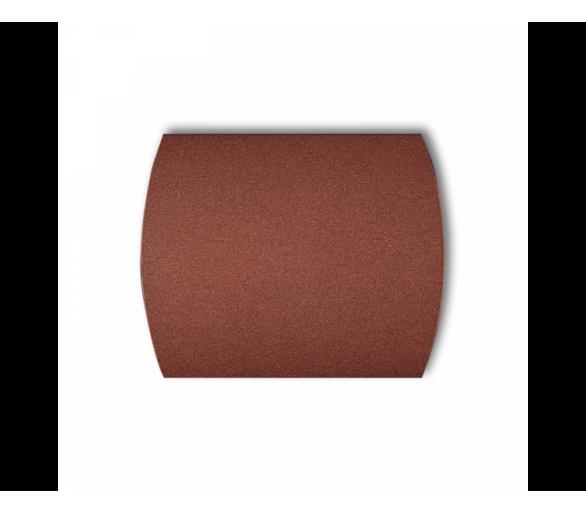 Klawisz pojedynczy do łączników TREND, LOGO brązowy metalik 9KL-1