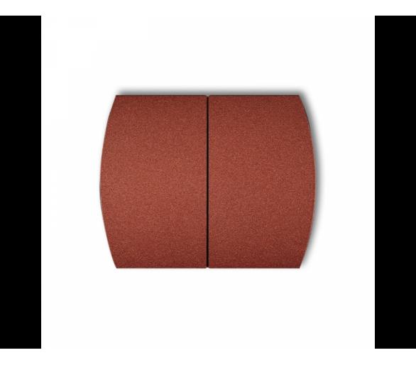Klawisze podwójne do łączników TREND, LOGO (komplet dwóch sztuk) brązowy metalik 9KL-2