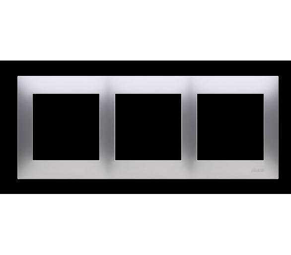 Ramka 3- krotna do puszek karton-gips srebrny mat, metalizowany DRK3/43