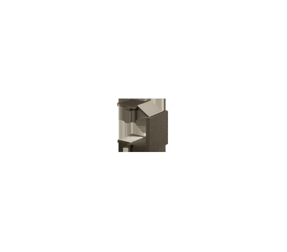 Zaślepka otworu wtyku RJ45/RJ12  pokrywy gniazda teleinformatycznego brąz mat, metalizowany BWB/46