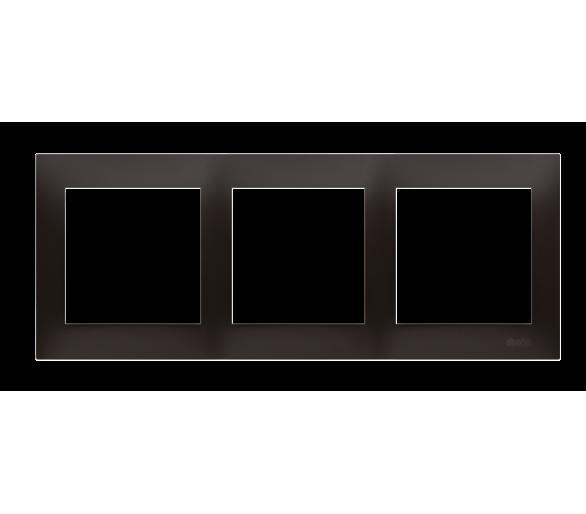 Ramka 3- krotna do puszek karton-gips antracyt, metalizowany DRK3/48