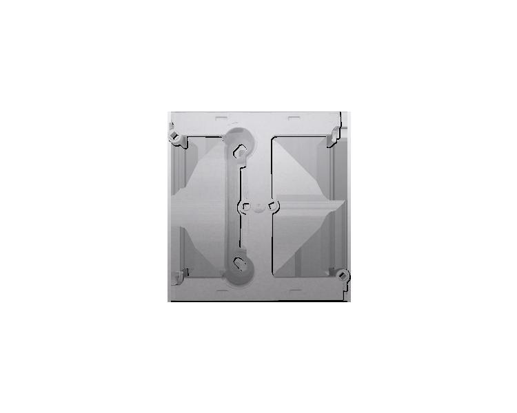 Puszka natynkowa – element rozszerzający puszkę pojedynczą składaną do ramek wielokrotnych srebrny mat, metalizowany DSH/43