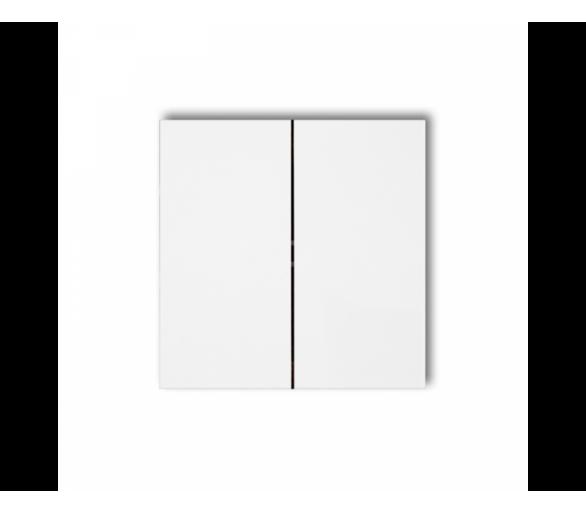 Klawisze podwójne do łączników DECO, FLEXI, MINI (komplet dwóch sztuk) biały DKL-2
