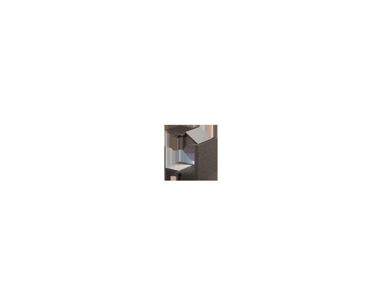 Zaślepka otworu wtyku RJ45/RJ12  pokrywy gniazda teleinformatycznego antracyt, metalizowany BWB/48