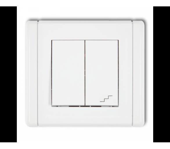Łącznik jednobiegunowy ze schodowym (wspólne zasilanie) biały FWP-10.1