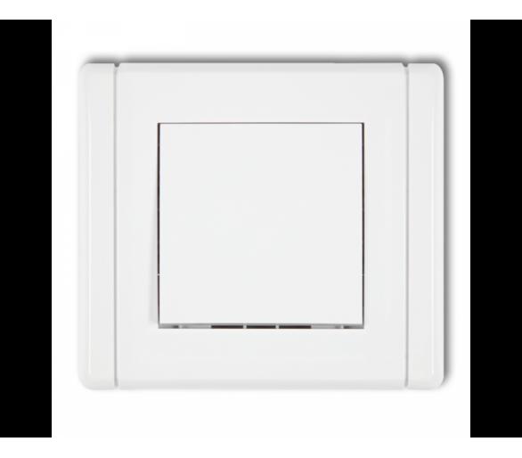 Łącznik schodowy (jeden klawisz bez piktogramu) biały FWP-3.1