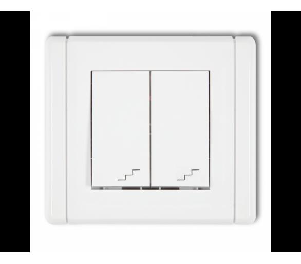 Łącznik podwójny schodowy biały FWP-33
