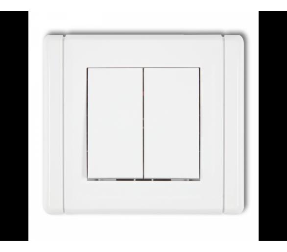 Łącznik zwierny żaluzjowy z podtrzymaniem (dwa klawisze bez piktogramów) biały FWP-88.1