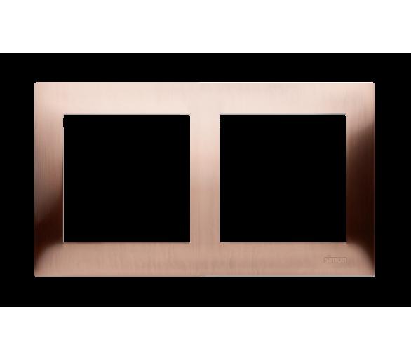Ramka 2- krotna metalowa miedź rustykalna, metal DR2/36