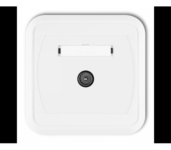 Gniazdo antenowe pojedyncze TV  biały GTV-1L