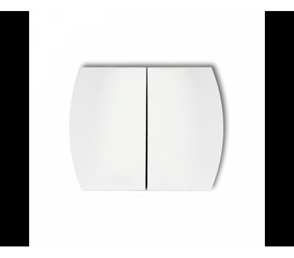 Klawisze podwójne do łączników TREND, LOGO (komplet dwóch sztuk) biały KL-2