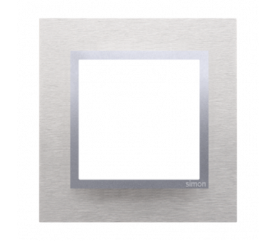 Ramka 1- krotna metalowa inox klasyczny DRN1/77