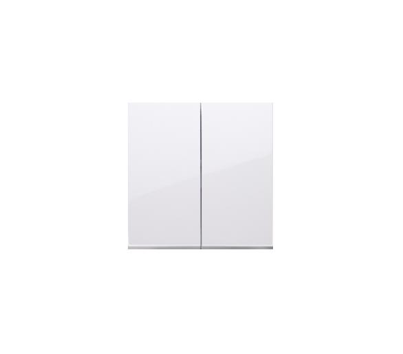 Klawisz podwójny do łączników i przycisków biały DKW5/11