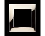 Ramka 1- krotna metalowa złoto, metal DR1/66