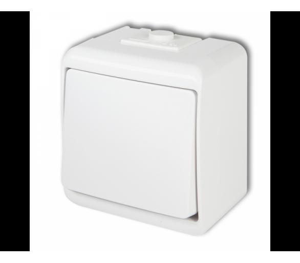 Łącznik jednobiegunowy biały WHE-1