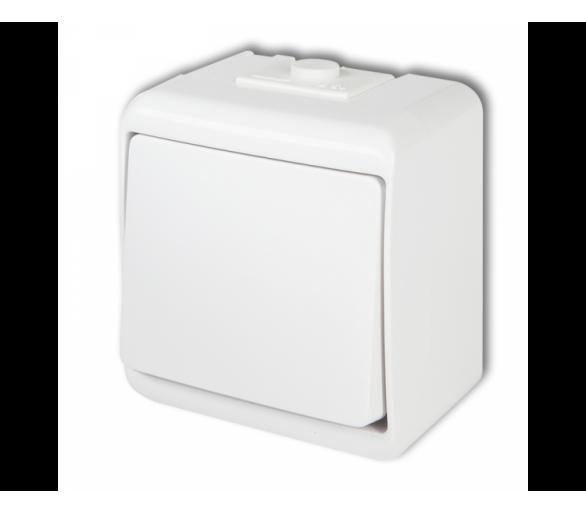 Łącznik jednobiegunowy podświetlany biały WHE-1L