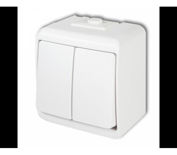 Łącznik świecznikowy podświetlany biały WHE-2L