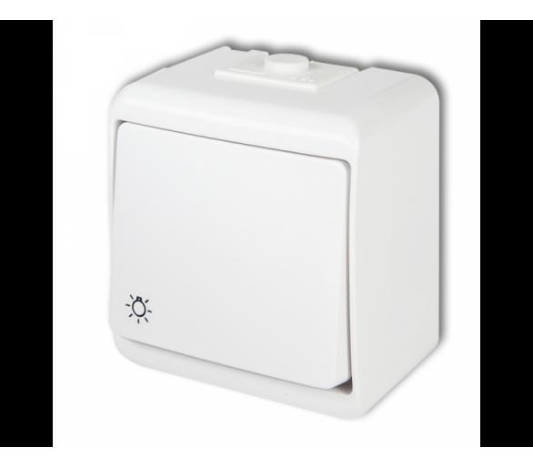 Łącznik zwierny światło podświetlany biały WHE-5L