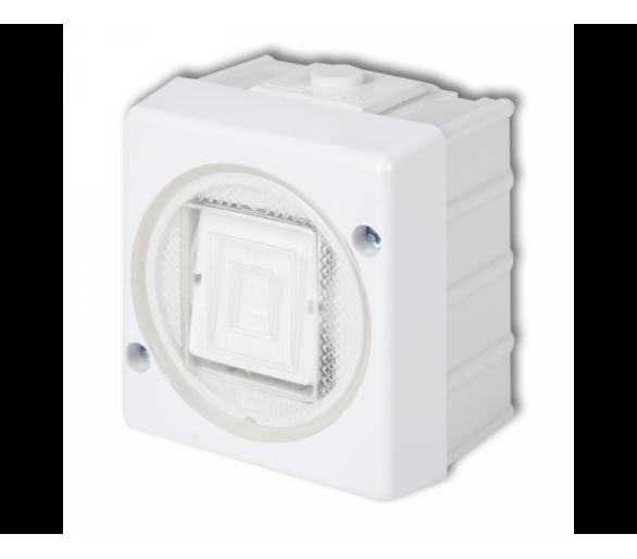 Łącznik jednobiegunowy podświetlany biały WHS-1L