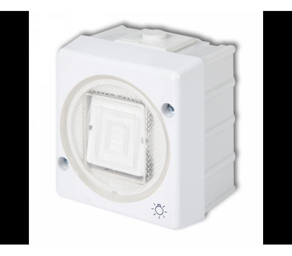 Łącznik zwierny światło podświetlany biały WHS-5L