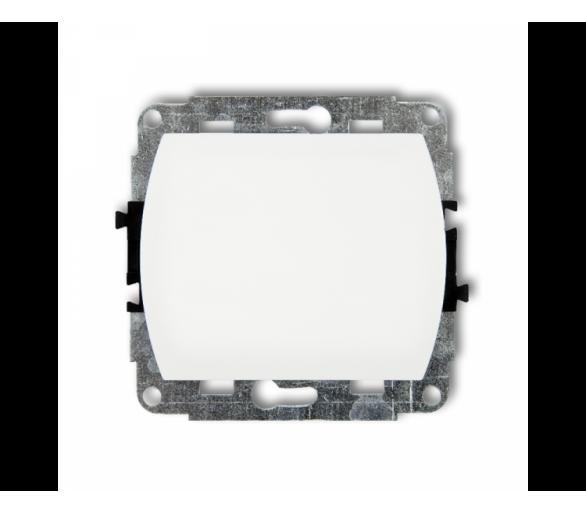 Mechanizm łącznika schodowego (jeden klawisz bez piktogramu) biały WP-3.1