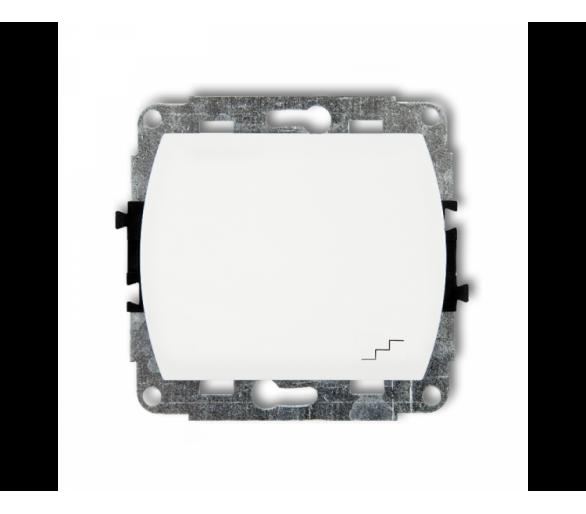 Mechanizm łącznika schodowego podświetlanego biały WP-3L