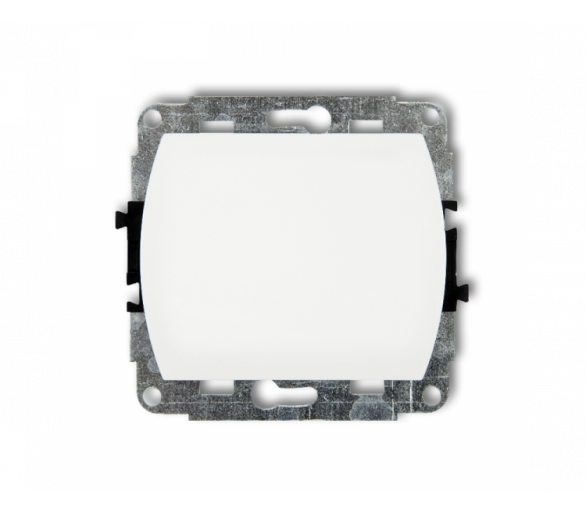 Mechanizm łącznika schodowego podświetlany (jeden klawisz bez piktogramu) biały WP-3L.1