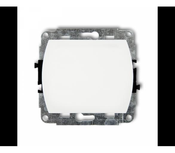 Mechanizm łącznika zwiernego, jednobiegunowego (jeden klawisz bez piktogramu) biały WP-4.1